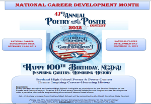 National Career Development Month Poster