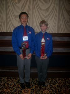2nd place - Drew Monroe and 3rd place-John Zhang