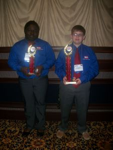 1st place- Hunter Hopkins and 3rd place- D'Ayana Munley